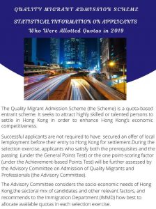 Quality Migrant Admission Scheme – Statistical Information on Applicants Who Were Allotted Quotas in 2019