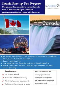 Designated Organizations support you to start a business and get Canadian permanent residence status with low cost